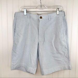 """J Crew Men's 9"""" Gramercy Seersucker Shorts Sz 32"""